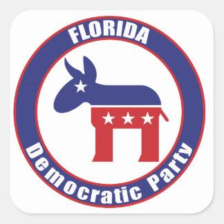 Florida Democratic Party Square Sticker