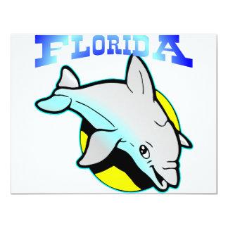 Florida Dolphin  #0222 11 Cm X 14 Cm Invitation Card