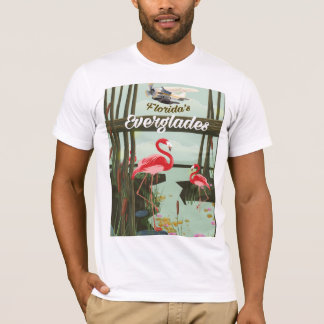 Florida Everglades cartoon travel poster T-Shirt