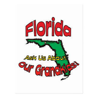 Florida FL Motto ~ Ask Us About Our Grandkids! Postcard