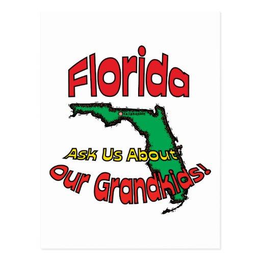 Florida FL Motto ~ Ask Us About Our Grandkids! Postcard