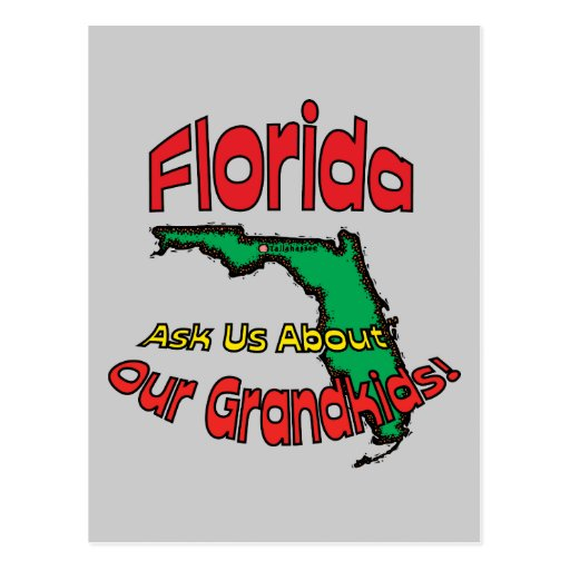 Florida FL Motto ~ Ask Us About Our Grandkids! Postcards