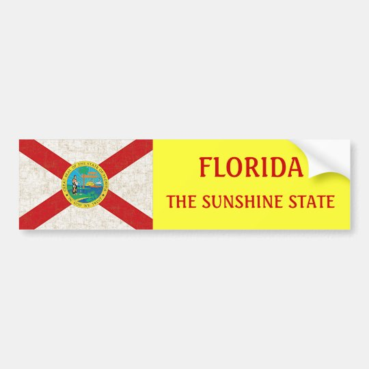 FLORIDA FLAG AGED BUMPER STICKER