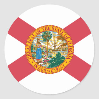 Florida Flag Classic Round Sticker