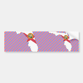 Florida Flag Map Bumper Sticker