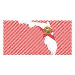 Florida Flag Map Custom Photo Card