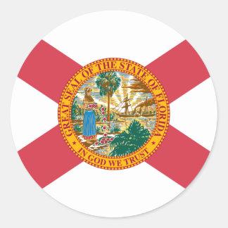 Florida Flag Round Sticker