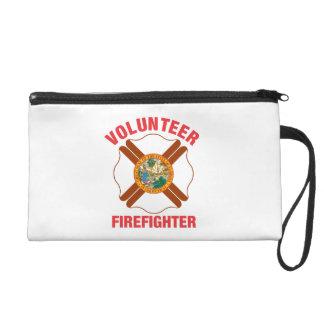 Florida Flag Volunteer Firefighter Cross Wristlet Purse