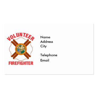 Florida Flag Volunteer Firefighter Cross Pack Of Standard Business Cards