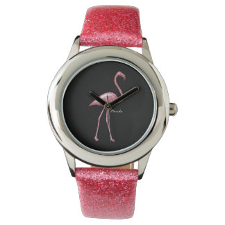 Florida Flamingo Glitter Strape WatchFactory Watch