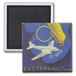 Florida ~ Fly South Square Magnet