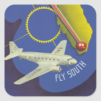 Florida ~ Fly South Square Sticker