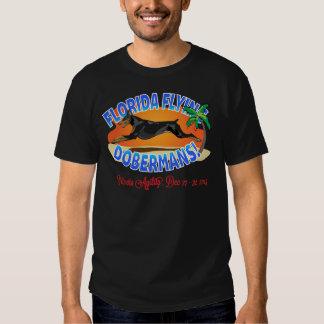 Florida Flying Dobermans Black Dobe Tees