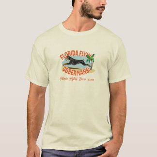 Florida Flying Dobermans Black T-Shirt