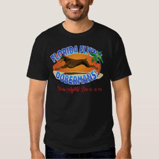Florida Flying Dobermans Red Dobe Tee Shirt