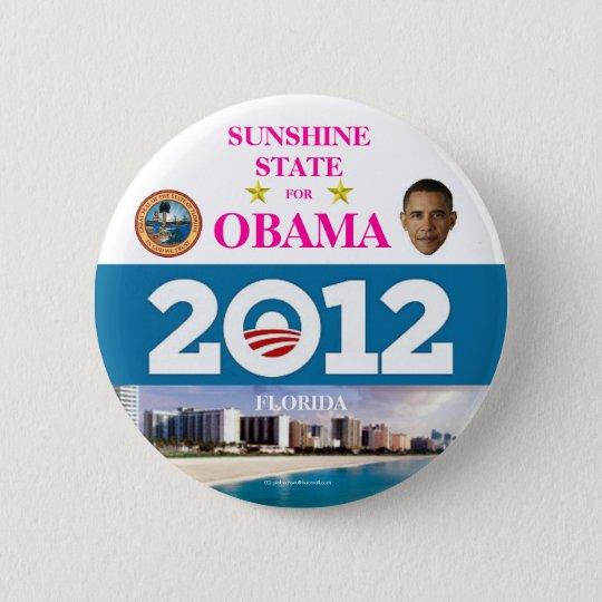 FLORIDA FOR OBAMA IN 2012 6 CM ROUND BADGE