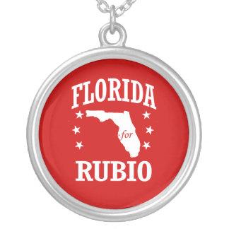 FLORIDA FOR RUBIO ROUND PENDANT NECKLACE