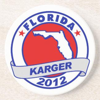 Florida Fred Karger Beverage Coaster