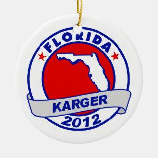 Florida Fred Karger Christmas Ornament