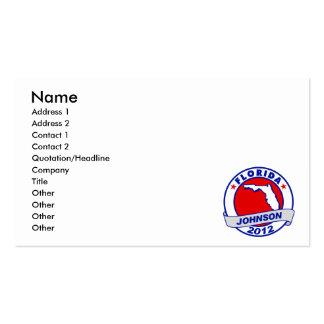 Florida Gary Johnson Business Card Template