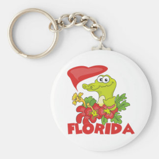 Florida Gator Basic Round Button Key Ring