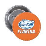 Florida Gator Head - Blue & White Pin