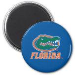 Florida Gator Head - Orange & White Fridge Magnets