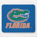 Florida Gator Head - Orange & White Mouse Mats
