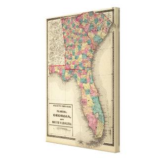 Florida, Georgia, and South Carolina 2 Canvas Print