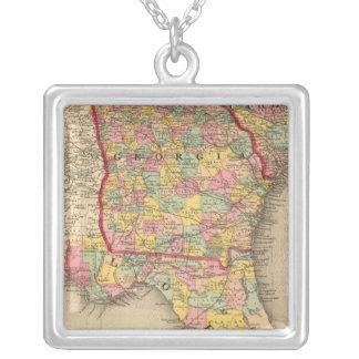 Florida, Georgia, and South Carolina Silver Plated Necklace