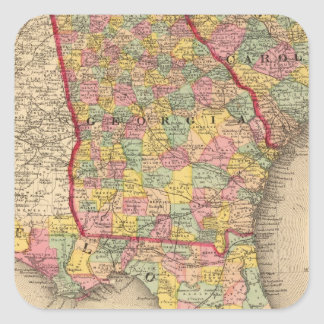 Florida, Georgia, and South Carolina Square Sticker