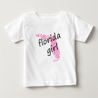 Florida Girl with Scribbled Florida Map Baby T-Shirt