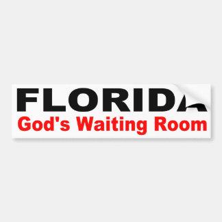 FLORIDA, God's Waiting Room Bumper Sticker
