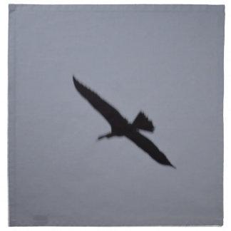 florida great white egret against sky shadow bird cloth napkin