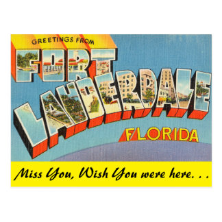 Florida, Greetings from Fort Lauderdale Post Card