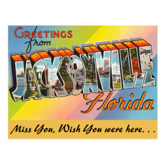 Florida, Greetings from Jacksonville Postcard