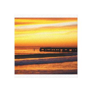 Florida Gulf coast sunset canvas Stretched Canvas Prints