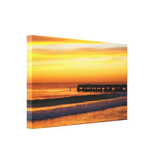 Florida Gulf Coast Sunset Gallery Wrapped Canvas