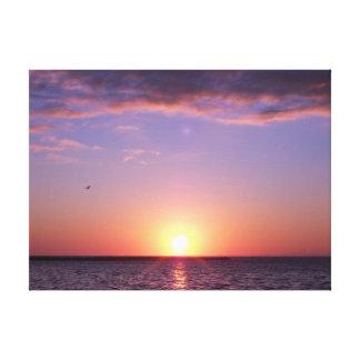 Florida Gulf Sunset Canvas Prints