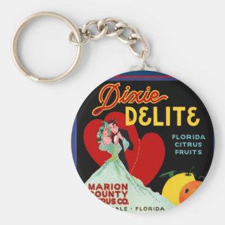 Florida Heart Basic Round Button Key Ring