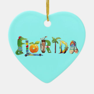 Florida Heart Ornament
