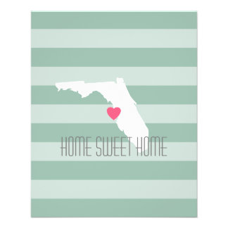 Florida Home State Love with Custom Heart 11.5 Cm X 14 Cm Flyer