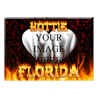 Florida hottie fire and flames design. pack of chubby business cards