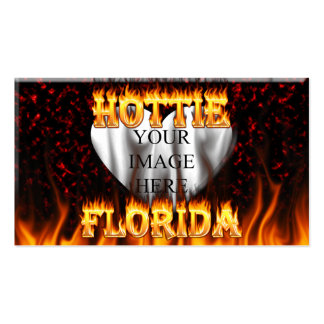 Florida hottie fire and flames design. pack of standard business cards