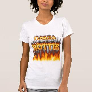 Florida hottie fire and flames design. T-Shirt