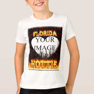 Florida hottie fire and flames design. t shirts