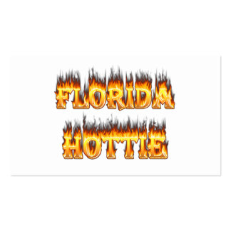 Florida Hottie Fire and Flames Pack Of Standard Business Cards