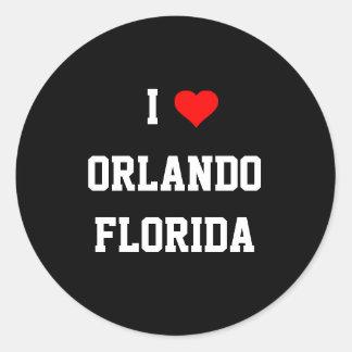 FLORIDA: I Love Orlando, Florida Classic Round Sticker