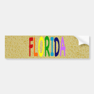 FLORIDA in a  rainbow of colors Bumper Sticker