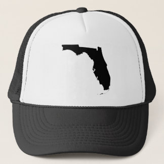 Florida in Black and White Trucker Hat
